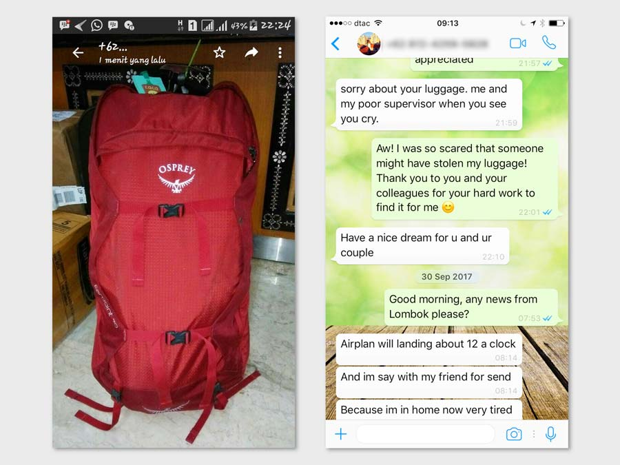 Lion Air found my lost bag