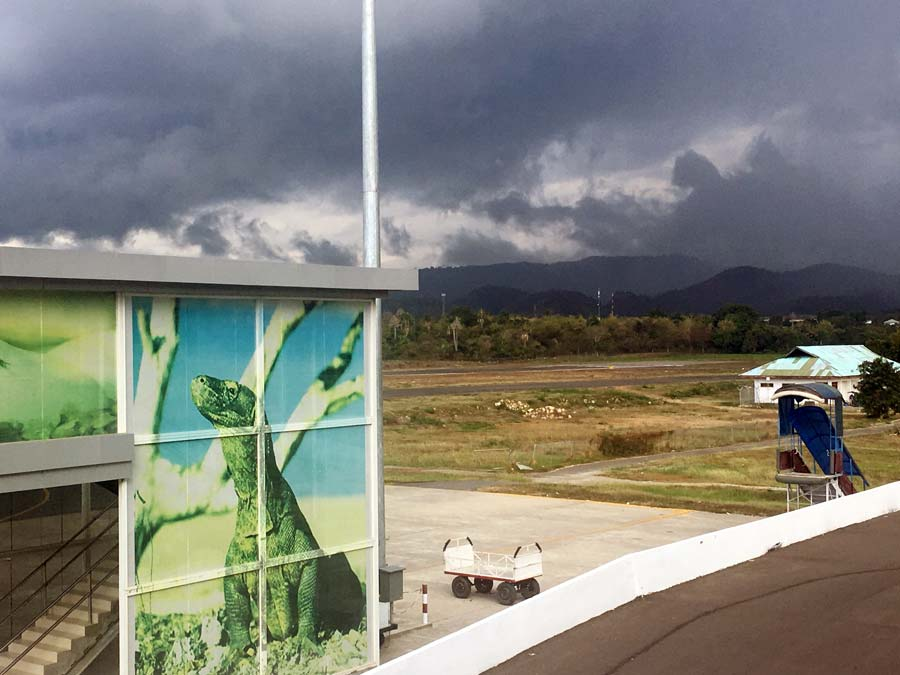 Labuan Bajo airport Komodo Bandar Udara LBJ dragon