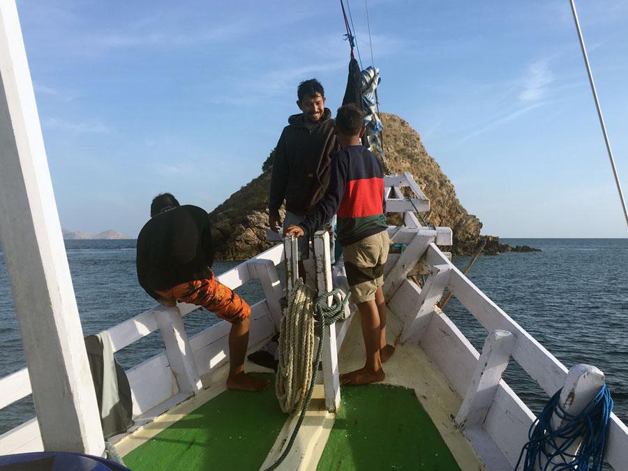 Boat crew mates Komodo liveaboard