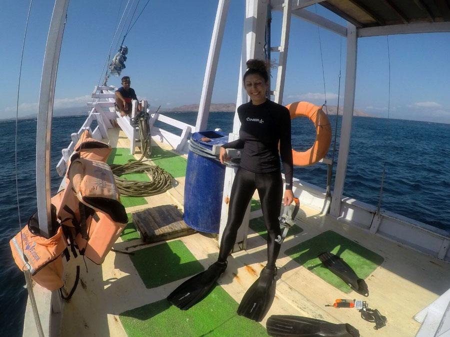 Snorkeller liveaboard diving boat trip