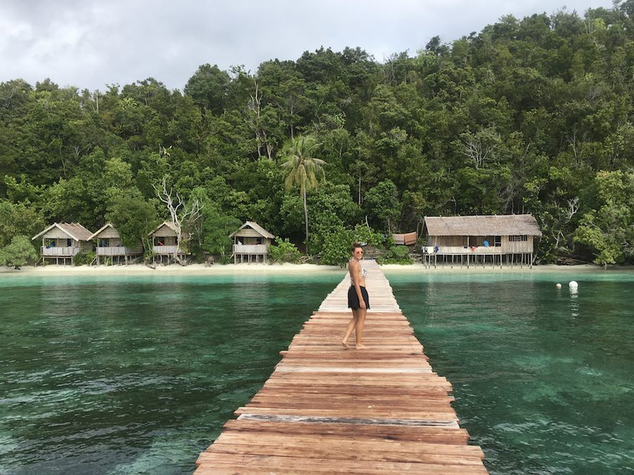 Warahnus homestay Raja Ampat kri island jungle jetty