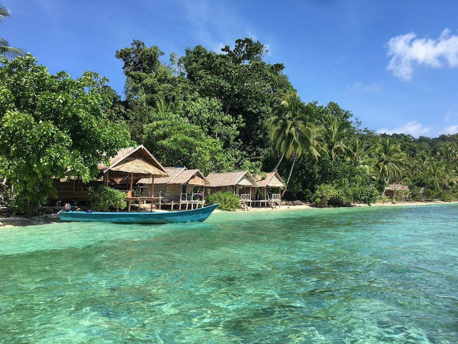 Corepen best homestays in Raja Ampat dive centre gam island turquoise water