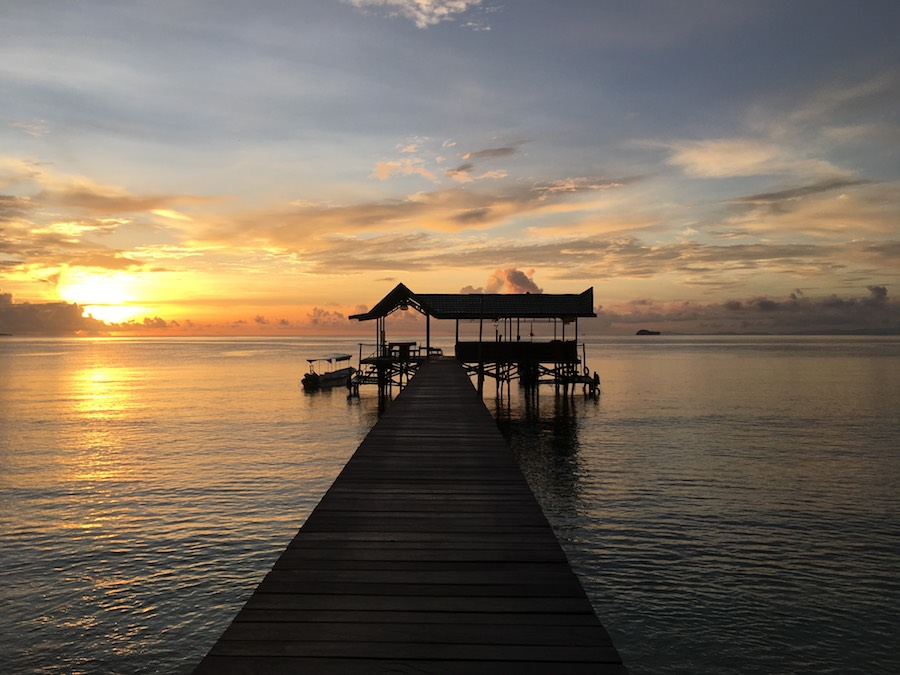 Raja Ampat biodiversity eco resort gam island jetty diving sunset