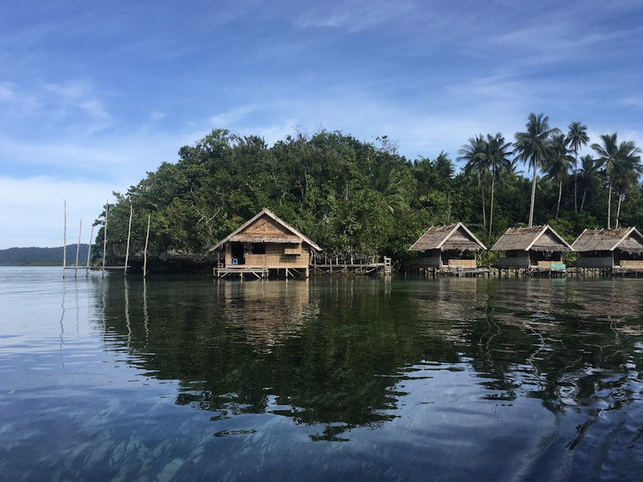 Beser Bay best homestays in Raja Ampat gam island overwater bungalow