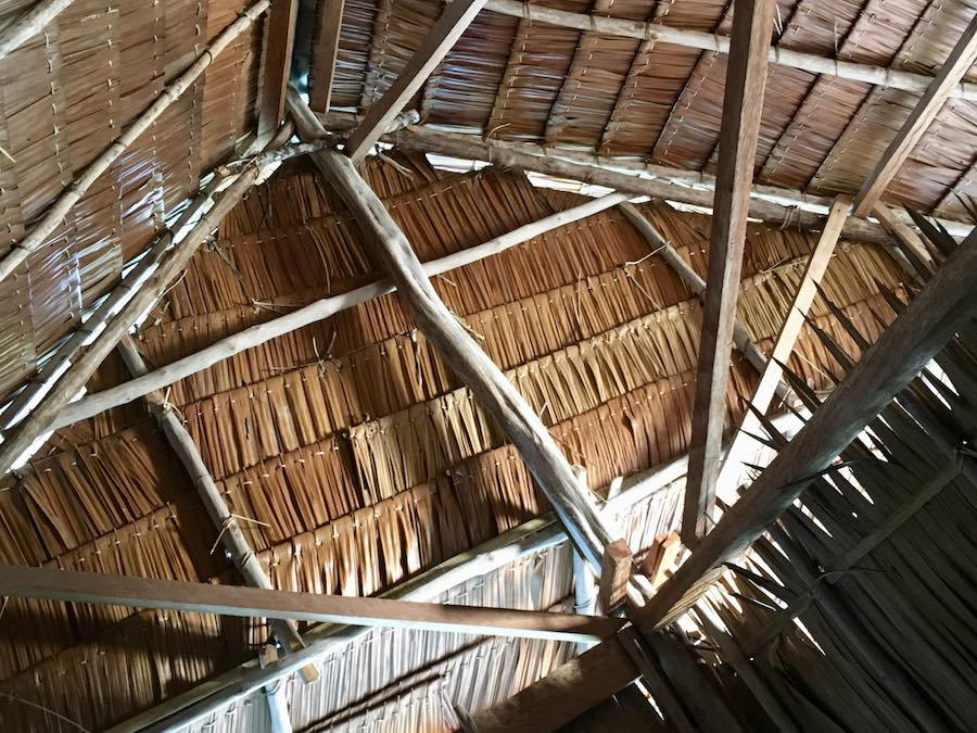Palm thatched roof Raja Ampat homestay bungalow