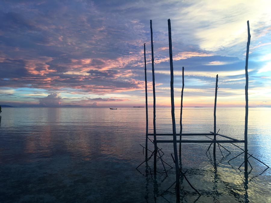 Raja Ampat sunset Beser bay homestay gam island Dampier Strait