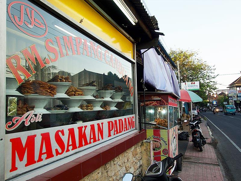 Masakan Padang food Indonesian window