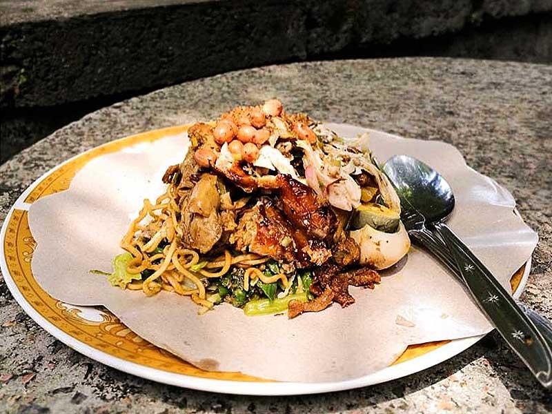 Ayam Nasi Campur Mie Goreng Indonesian food