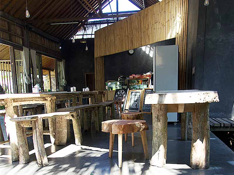 Restaurant seating Ubud Warung sate kacul