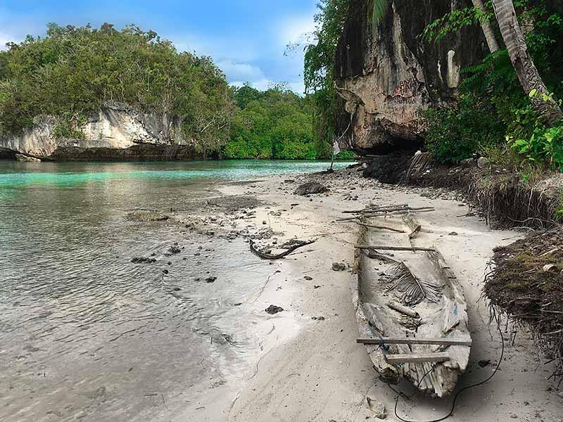 Raja Ampat Remote Karst islands Beser Bay shipwreck