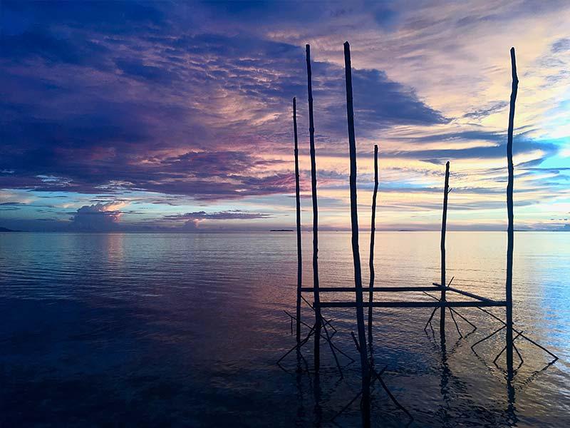 Raja Ampat amazing sunset Beser Bay