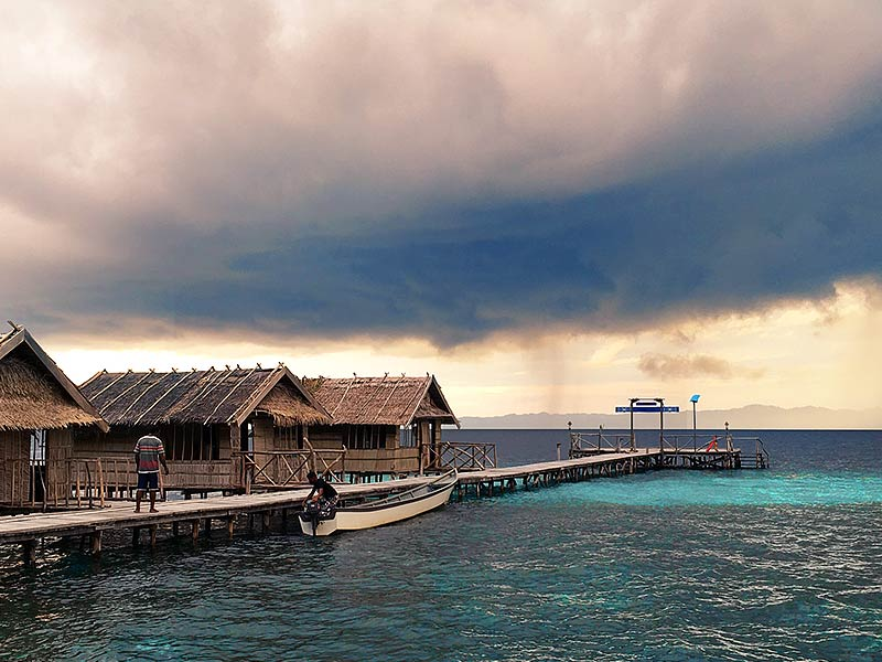 Raja Ampat Homestay during rainy season