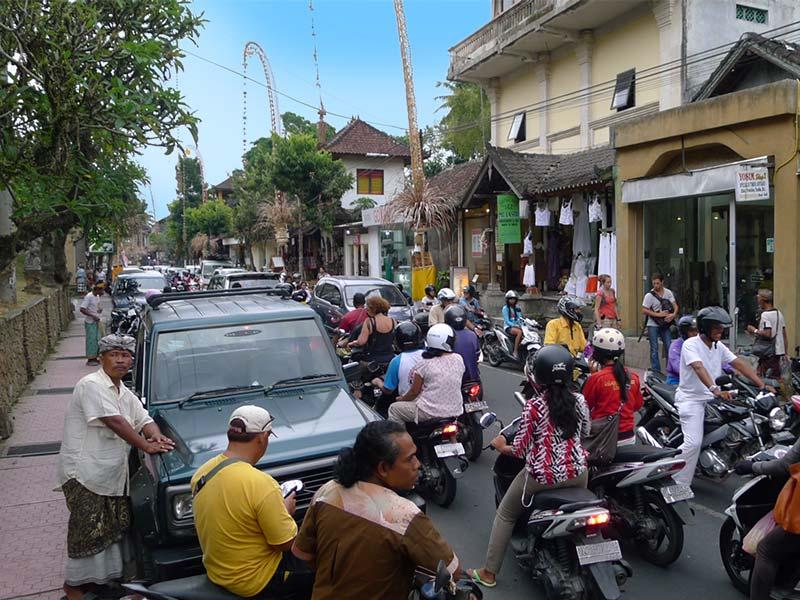 Ubud Traffic in Bali