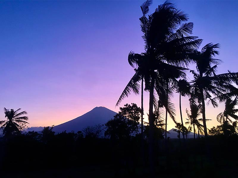 Sacred Mount Agung Sunset Amed Bali