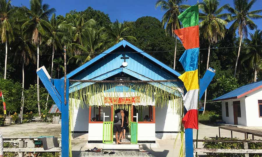 Christmas Church on remote beach