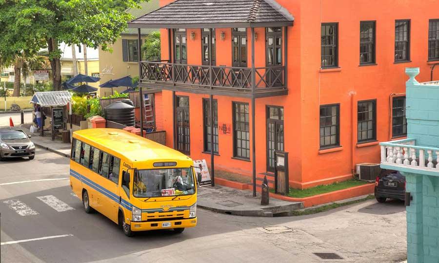 Barbados public reggae bus