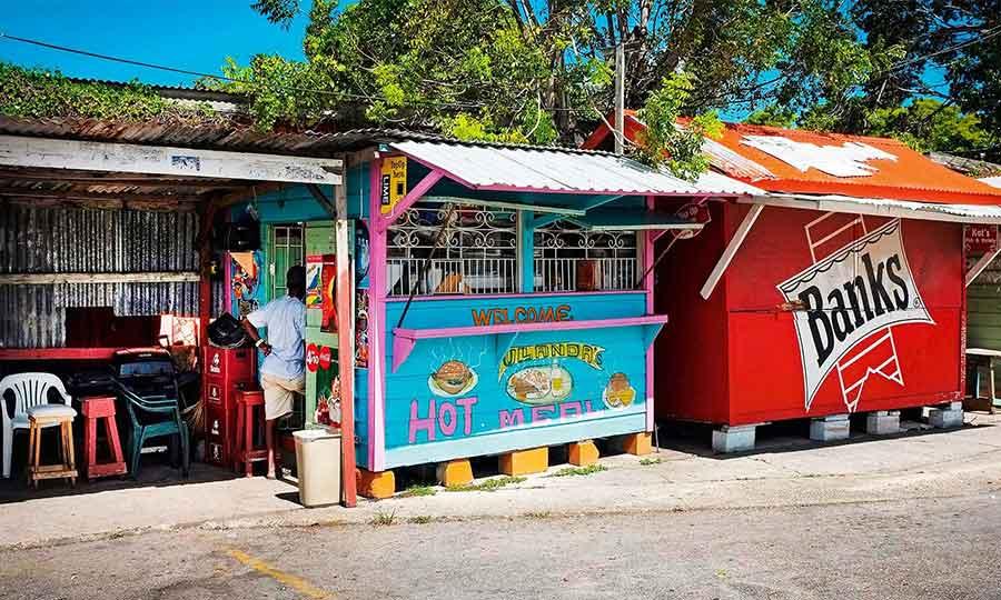 Street side roti van Barbados